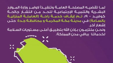 Photo of عملائنا الأعزاء في مكة وجدة تم إيقاف خدمة راحة (العاملة المنزلية بالساعة) في منطقة مكة ال…